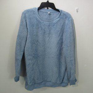 Leo Rosi Sherpa Sweater Blue women's XL B4-Q4